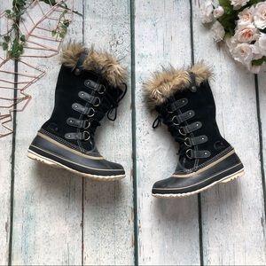 Sorel Joan of Arctic boots 7 black winter suede
